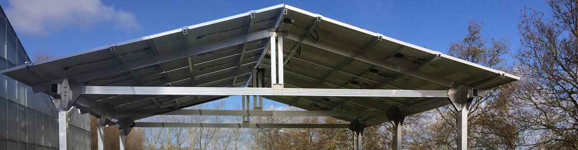 Solar carport oost-west