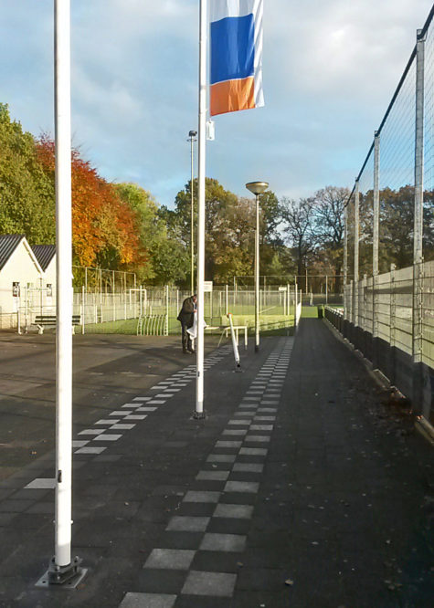 Flagpole and/or lamppost - RVS schroefpalen